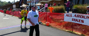 North Olympic Discovery Marathon Runner supporting Run For Joe